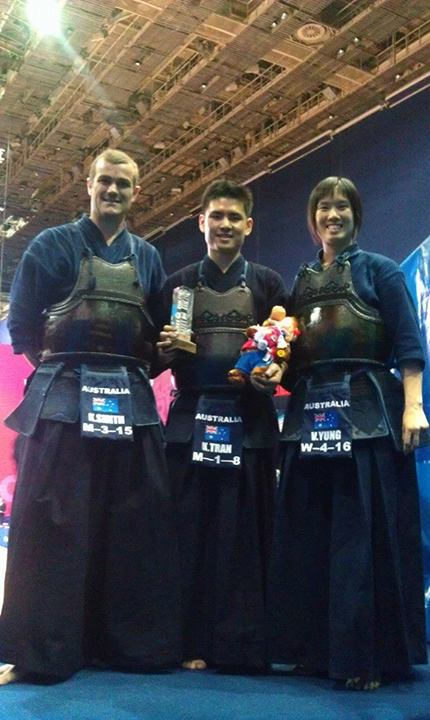 Australian Team at the Second Combat Games.Kirby Smith; Vivian Yung; Kelvin Tran.