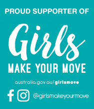 Proud supporter of Girls Make Your Move